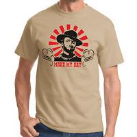 Make my Day Clint Eastwood Kult Retro Konterfei Sprüche Geschenk Lustig T-Shirt