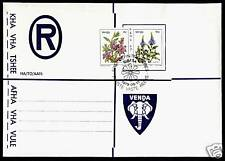 Venda Cat # 8,17 on Registered Venda Envelope, Flowers