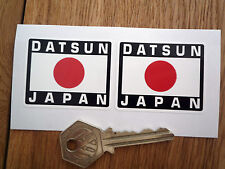 DATSUN JAPAN Japanese Hinomaru Style Car Stickers 50mm Pair Race Rally Helmet