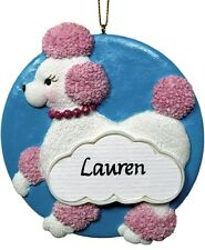 PERSONALIZED POODLE ORNAMENT AND MAGNET JEANE'S THINGS