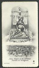 Estampa antigua de la Virgen de la Caridad andachtsbild santino holy card