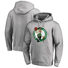 Boston Celtics NBA Majestic Men's Pullover Primary Logo Gray Hoodie