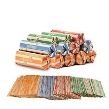 Coin Roll Wrappers -440 Pack Assorted Flat Coin Papers Bundle of Quarters Nickel