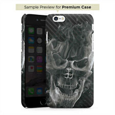 Samsung Galaxy Note 2 Premium Case Hülle Cover - Smoke Skull Carbon