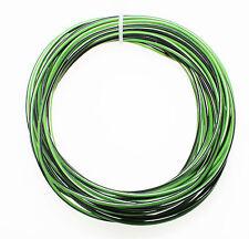 KFZ Kabel Litze Leitung FLRy 1,0mm² 10m grün / schwarz Fahrzeug Auto LKW