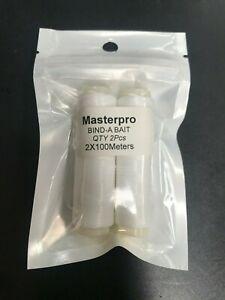 200 M BIND A BAIT High Quality  Strength Elastic Bait Thread 2-Pack Special