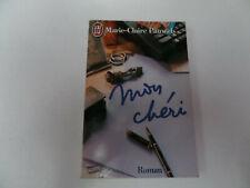 """livre J'ai Lu """"Mon chéri"""" de Marie-Claire Pauwels - roman"""