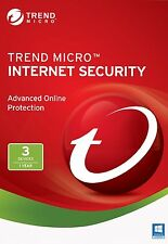 TREND MICRO INTERNET SECURITY 11 (2017) | 1 anno di licenza | 3 PZ