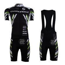 Moderno Hombre ciclismo manga corta Juegos Riding Jersey Bib Shorts Trajes Negro