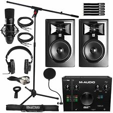 Home Recording M-Audio Air 912 Interface, Mic, Headphones & 306Pmkii Speakers