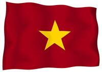 Sticker decal vinyl decals national flag car vietnam luggage ensign bumper