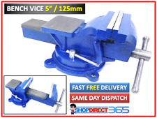 """5"""" 125mm Jaw Bench Vice Workshop Swivel Base Clamp Workbench Cast Iron NEW 15-53"""