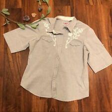 Roper Light Blue Western Button Up Shirt Size XL EUC