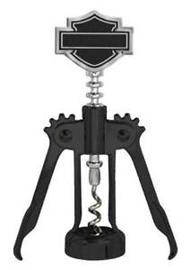 Harley Davidson Custom Tooled Silhouette Bar & Shield Wine Corkscrew  HDL-18586