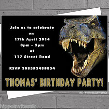 Dinosaur T-rex Childrens Kids Boys Birthday Party Invitations x 12 +envs H1006
