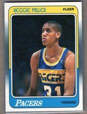 REGGIE MILLER 1988/89 FLEER Rookie Card PACERS LEGEND **READ Description* BEAUTY