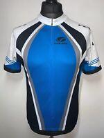 VOLER Blue & White Stylish Cycling Jersey Shirt Retro Short Sleeve California L