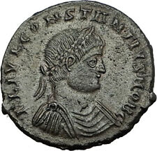 CONSTANTIUS II Original 331AD Authentic Ancient Coin w ROMAN SOLDIERS i65541