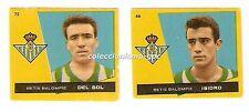 LOTE 2 CROMOS ANTIGUOS FUTBOL LIGA 1959-1960 REAL BETIS BRUGUERA Football Cards