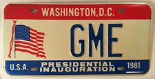 Washington DC D.C. vanity GME license plate Gary Greg George Gabriel Gale Gerald