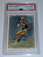 2008 PACKERS Jordy Nelson signed ROOKIE card UD Masterpieces RC #51 PSA/DNA AUTO