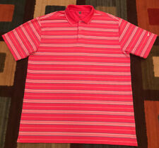 Vintage Nike Golf Fit-Dry Polo Shirt, Men's 2Xl, Pink Stripes, Euc