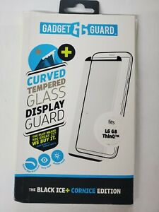 Gadget Guard Black Ice + Cornice Edition Tempered Glass Screen for LG G8 - Clear
