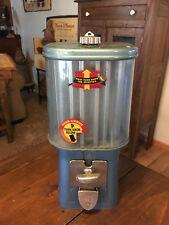 VINTAGE 1950's OAK ACORN GOLDMINE 1 CENT TAB GUM SELECTOR MACHINE w/ KEY & WORKS