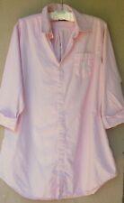 Ralph Lauren Pink/White Pinstripe Cotton Nightshirt  Medium
