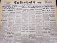 1940 JAN 27 NEW YORK TIMES NEWSPAPER - HINES CONVICTION UPHELD ON APPEAL - NT 37