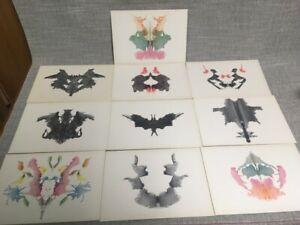 VTG Hermann Rorschach Psychodiagnostik Tafeln Plates Set 10 1948 Original Box