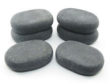 HOT STONE MASSAGE: 6 Medium Basalt Stones - 6.5 x 4.5 x 1.75 cm