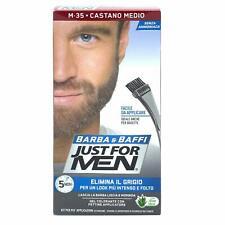 Just for Men Gel Colorante Marrone e Pennello per Barba e Baffi Uomo M-35 Brown