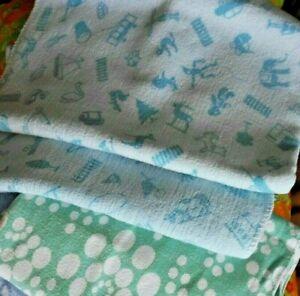 3 DDR Kinderdecken (Babydecken) Moltondecken