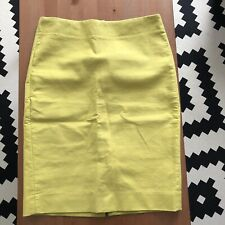 J Crew Pencil Skirt Size 0 Yellow