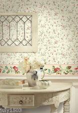 (4) New Rolls NextWall Tra11301 Wallpaper Flowers prepasted next wall
