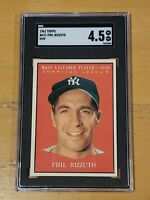 1961 Topps #471 Phil Rizzuto MVP SGC 4.5 Newly Graded New York Yankees