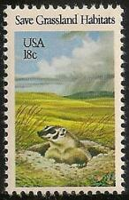 Us 1922 Save Grassland Habitats Badger 18c single Mnh 1981