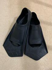 Arena Powerfin Black Swimming Fins Flippers Size UK 4 - 5 Eu 37-38