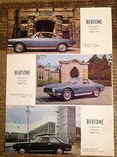 Rara Pubblicità BMW 3.2 Super/ASTON MARTIN DB4 GT/ALFA ROMEO 2600 Sprint BERTONE