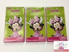 Disney Junior Minnie Mouse Children's Valentines Day Cards with Tattoo 96 ct New