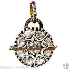 Diamond Silver Filigree Pendant Jewelry Vintage 2.10cts Genuine Rose Antique Cut