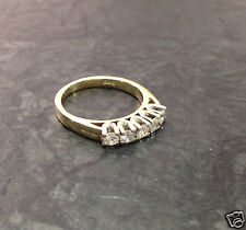Goldring mit 5 Brillanten Brillantring 585 er Gold bicolor Ring 0,2 ct Gr. 49