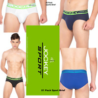 New Mens Jockey Cool Active Performance Brief Mesh Pouch Sports CoolMax Briefs