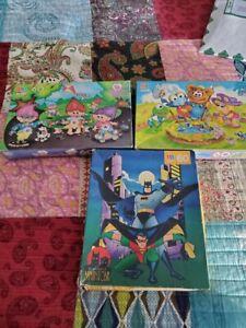 Mixed Lot of 3 Sixty Piece Milton Bradley Jigsaw Puzzles-Muppet Babies