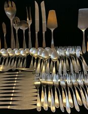 New listing Hampton Silversmiths Messina Satin Stainless Flatware 80 Pc (Sh21)
