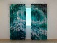 3D Curtain Printed with The Meeting of the River and the Sea Made to Measure