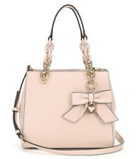 Michael Kors Cynthia Small Convertible Satchel Soft Pink Leather Bow +MK dustbag