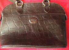 Rare MULBERRY 100% Auth Vintage Brown  Congo leather handbag
