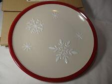 Longaberger Falling Snow Plate